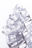 Glass Filled With Ice Cubes Royalty Free Stock Images