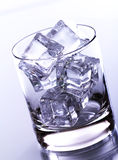 Glass Filled With Ice Cubes Stock Images