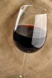 Glass of fine italian red wine Stock Images