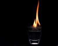 Glass fire Stock Photo