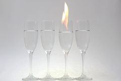 Glass on fire Royalty Free Stock Image