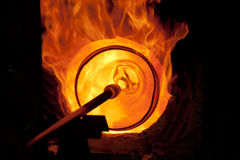 Glass and fire Royalty Free Stock Photography