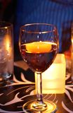 Glass of fire wine. Stock Image