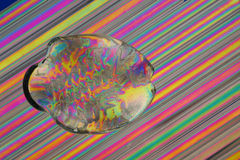 Glass fish on straws Royalty Free Stock Photography