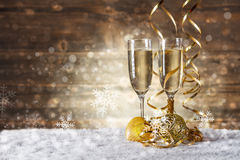 Glass of fizz Royalty Free Stock Photos