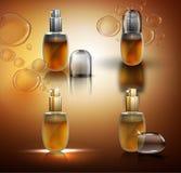 Glass Flacons Set Royalty Free Stock Photo