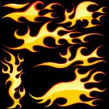 Glass Flames Symbols Stock Image