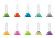 glass flaskor Arkivfoto