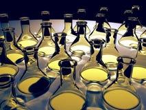 glass flaskor arkivbilder