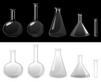 Glass flasks stock illustration