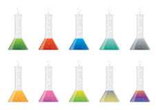 Glass flasks Stock Photo