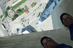 Glass Floor, CN Tower, Toronto, Canada Royalty Free Stock Photo