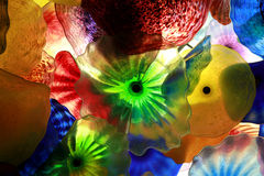 Glass floral decorations Royalty Free Stock Image