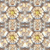 Glass floral seamless generated texture Stock Photos