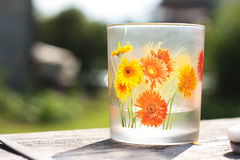 Glass with flower Royalty Free Stock Photo
