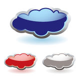 Glass fluffy clouds Stock Photo