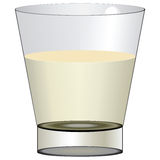 Glass with fluid Stock Image