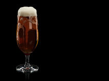 Glass with foamy beer Stock Photos