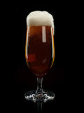 Glass with foamy beer Stock Images