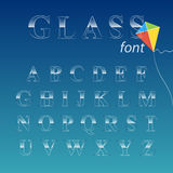 Glass font. Royalty Free Stock Photography