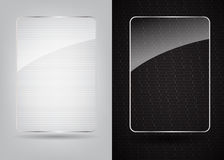 Glass frame on abstract metal background. Vector Royalty Free Stock Image