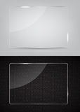Glass frame on abstract metal background. Vector Royalty Free Stock Photos