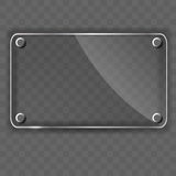 Glass frame on abstract metal background. Vector Royalty Free Stock Photography