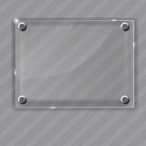 Glass frame on abstract metal background. Vector Stock Images