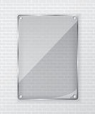 Glass frame on brick wall. Background Royalty Free Stock Photography