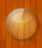 Glass Frame on Checkered  Abstract Woody Background. Vector Illu Royalty Free Stock Photos