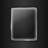 Glass frame on metal background Royalty Free Stock Image