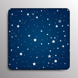 Glass frame. Starry Sky. Eps 10. Stock Images