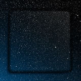 Glass frame. Starry Sky. Eps 10. Royalty Free Stock Photos