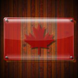 Glass Framework with Canadian Flag Stock Images