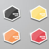 Glass framework set. Vector illustration. Vector infographic. banners set Stock Photography