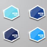 Glass framework set, Vector illustration. Royalty Free Stock Photo
