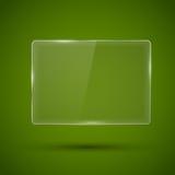 Glass framework. Vector illustration. Glass framework banner template on green background. Vector illustration Royalty Free Stock Photo