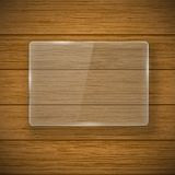 Glass framework and wood texture Royalty Free Stock Images