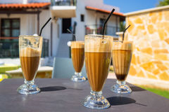 Glass of frappe Royalty Free Stock Image