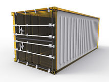 Glass freight container Stock Photo