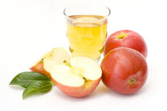 Glass of fresh apple juice Royalty Free Stock Images