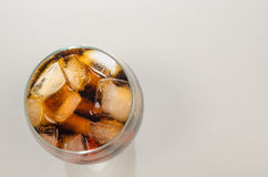 Glass of fresh coke Stock Photography