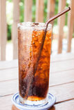 A glass of fresh cola Royalty Free Stock Photography
