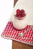 Glass of fresh delicious yogurt with berry fruits Royalty Free Stock Photography