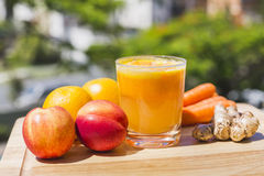 Glass of fresh fruit and vegetable juice Stock Photo