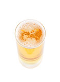 Glass of fresh golden beer isolated Stock Photography