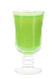 Glass with fresh green-apple juice Royalty Free Stock Image