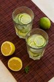 Glass of fresh homemade tasty lemonade Royalty Free Stock Photos