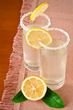 Glass of fresh homemade tasty lemonade Royalty Free Stock Image