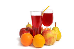 Glass of fresh juice Royalty Free Stock Photos